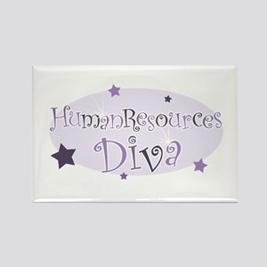 """Human Resources Diva"" [purpl Rectangle Magnet"